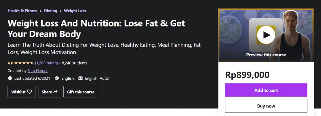 contoh kelas online weight loss