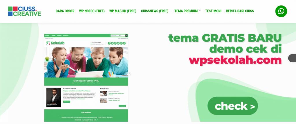 halaman utama website ciuss